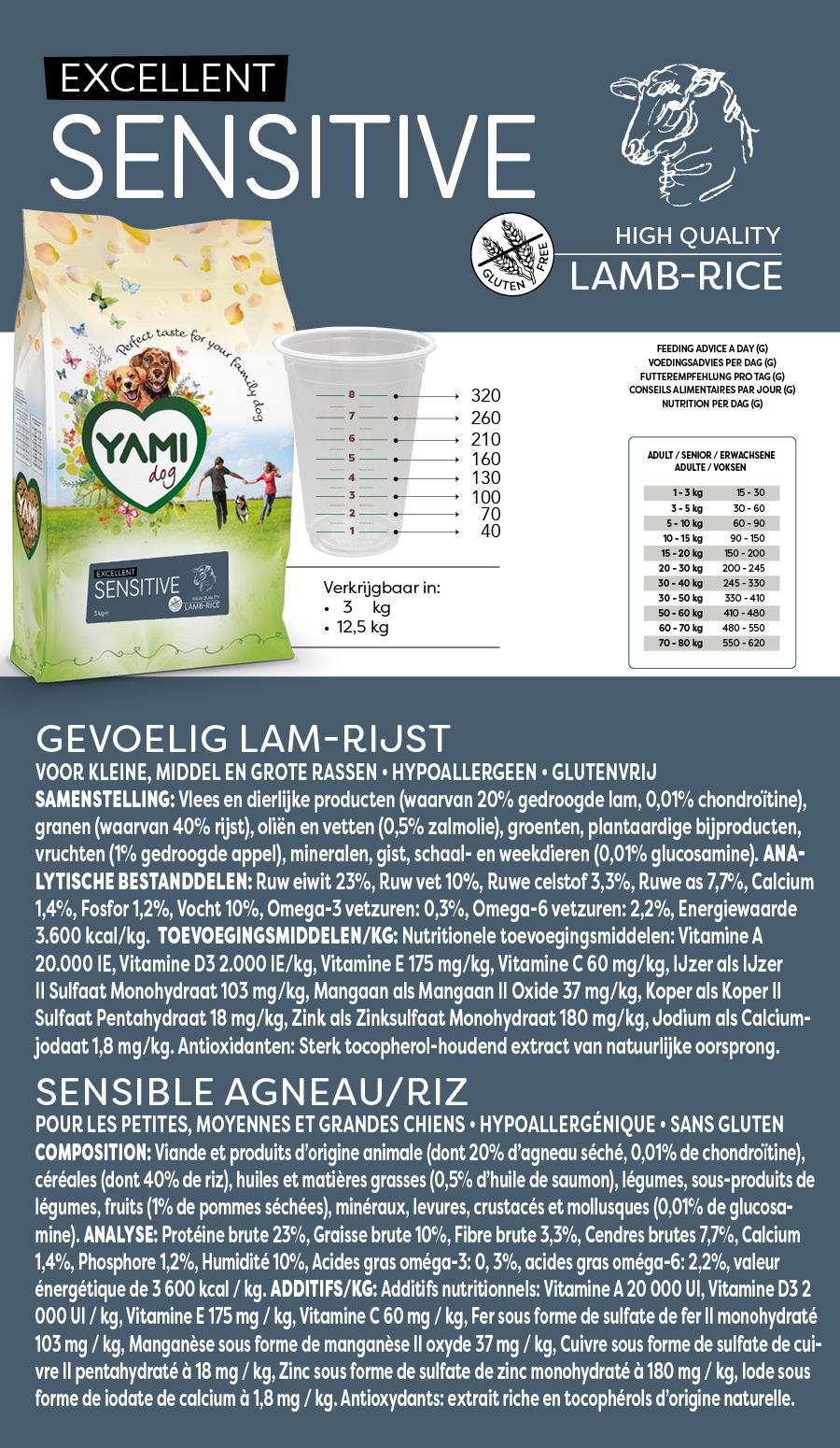 Yamidog Sensitive Lam Rijst