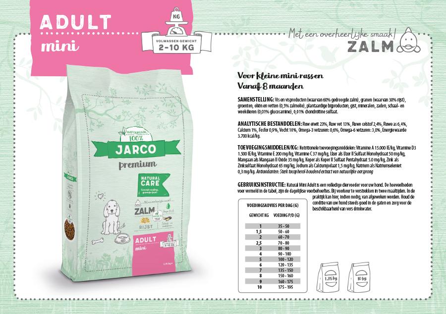 Jarco Premium Mini Adult Zalm