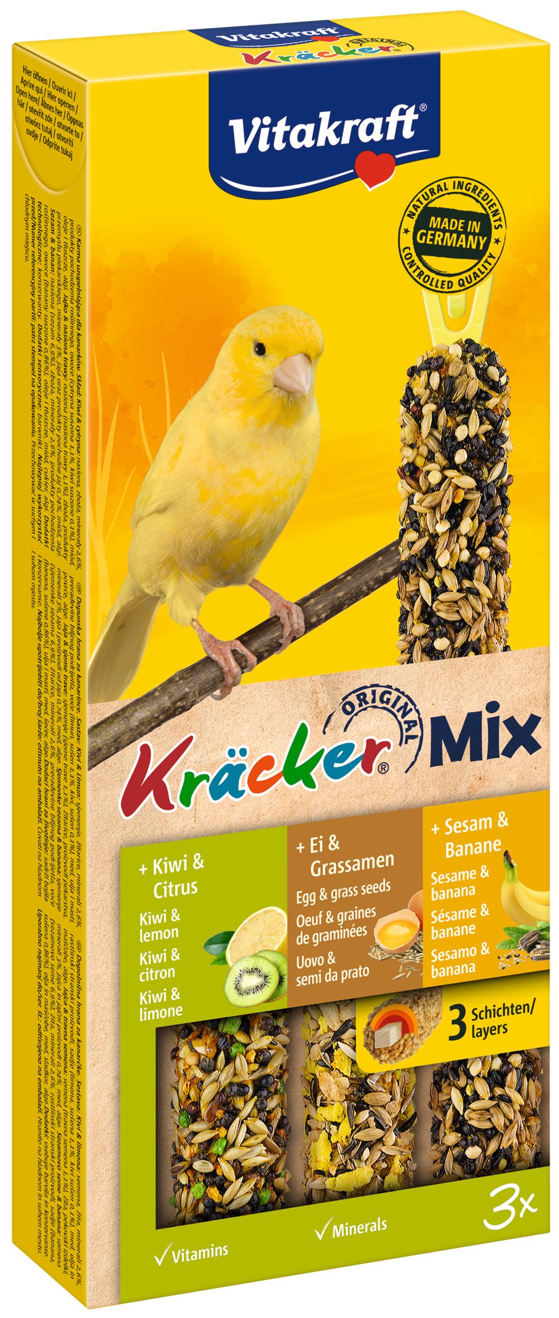 Vitakraft Kracker Mix Kanarie Kiwi/Ei/Banaan
