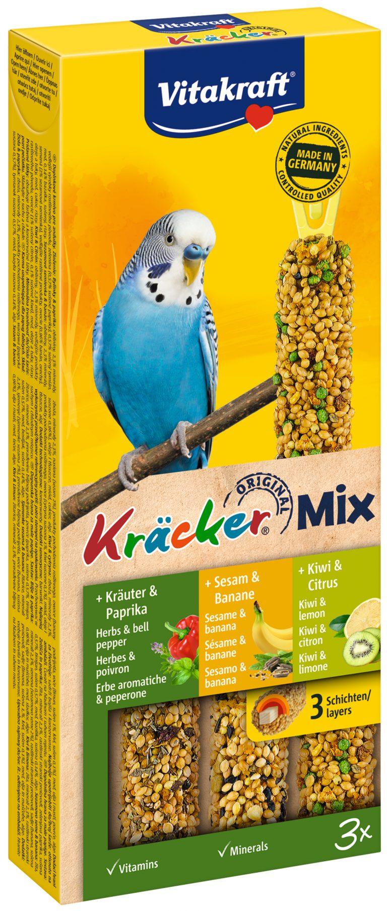 Vitakraft Kracker Mix Parkiet Kruiden/Banaan/Kiwi