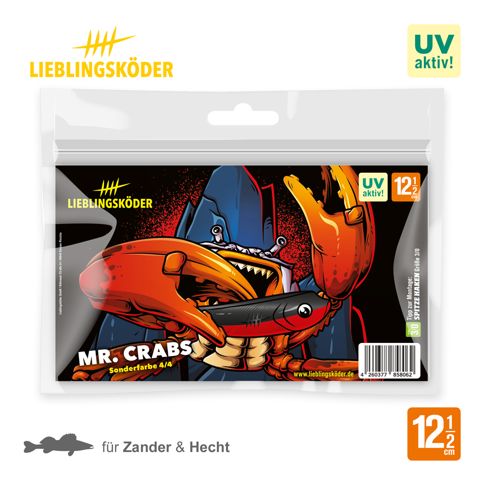 Lieblingsköder MR. Crabs 12.5 Cm