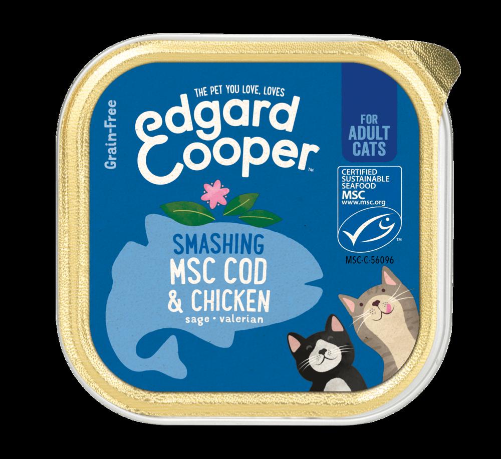 Edgard en Cooper Kat Kuipje Kip en Kabeljauw
