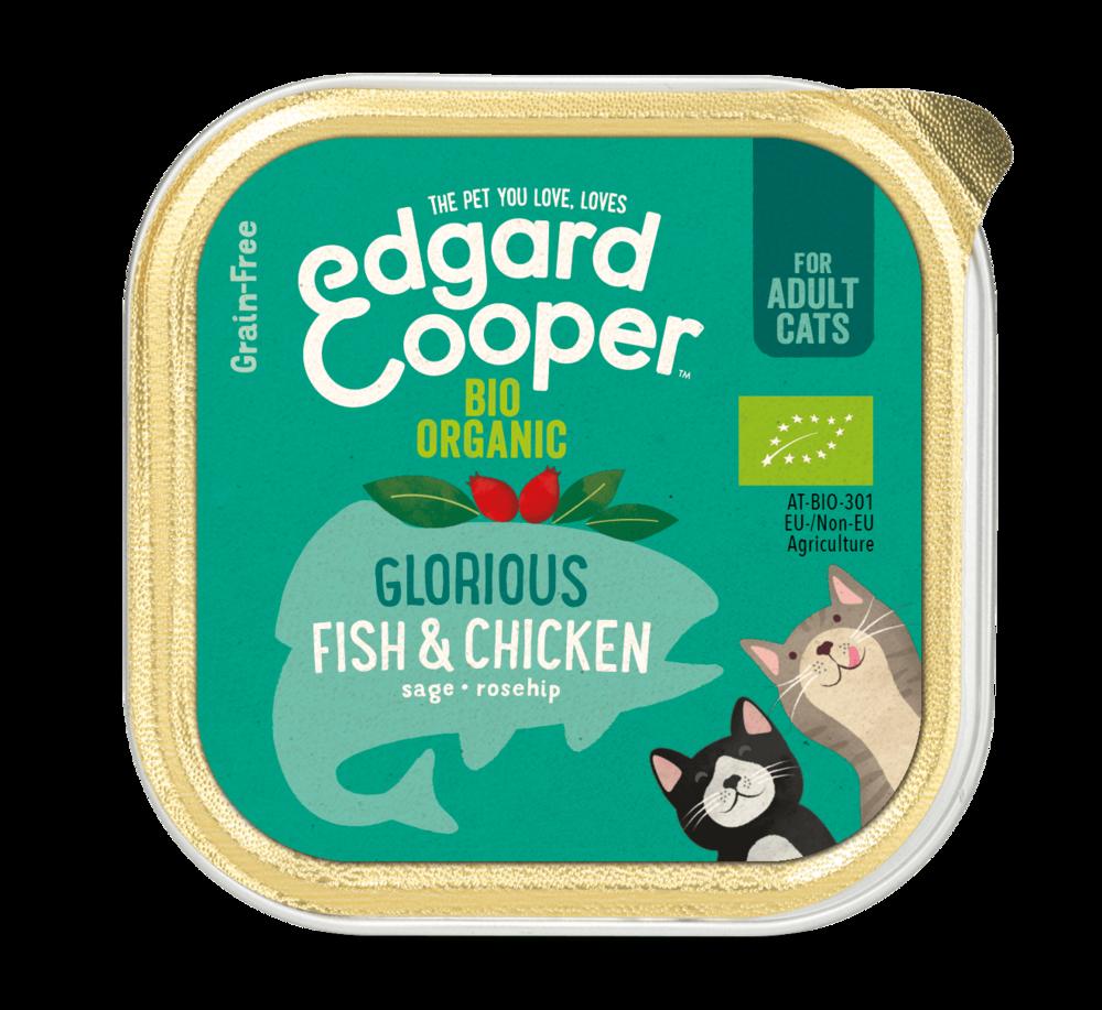 Edgard en Cooper Kat Kuipje Bio Kip en Vis