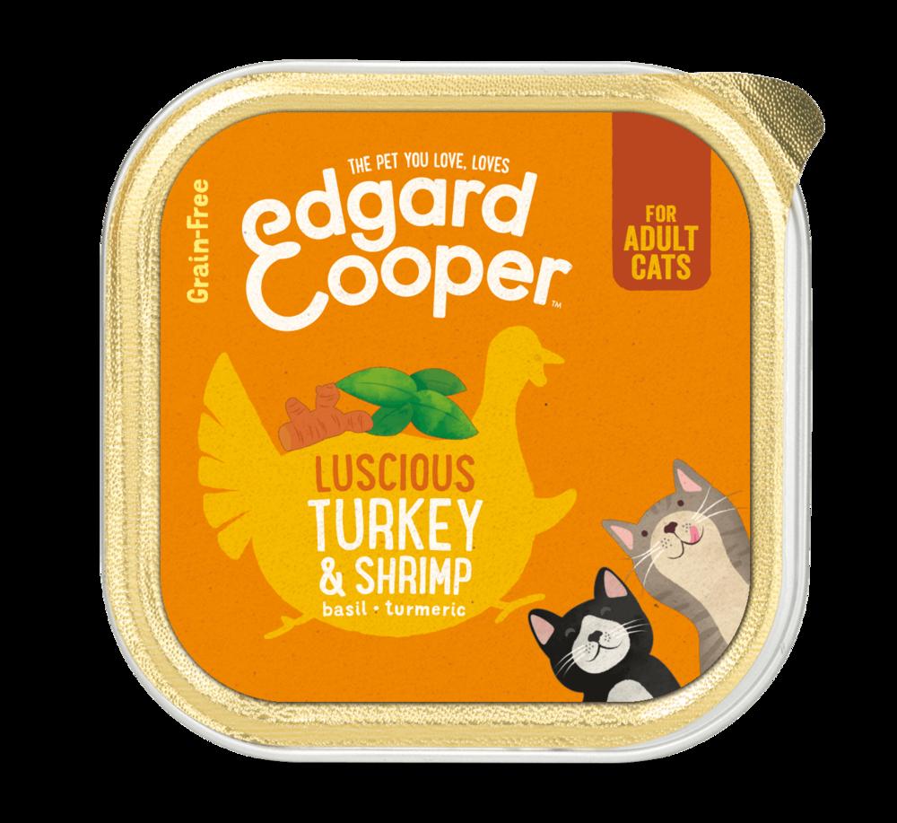 Edgard en Cooper Kat Kuipje Kalkoen en Garnalen