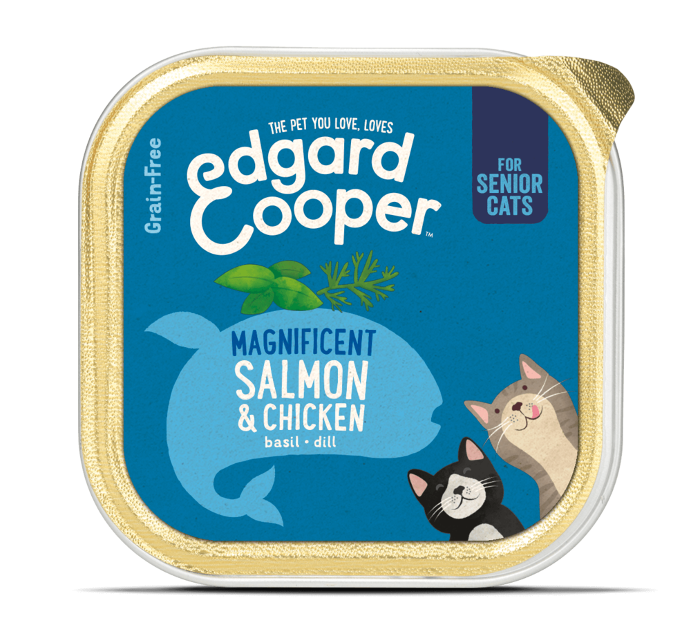 Edgard en Cooper Kat Kuipje Zalm en Kip