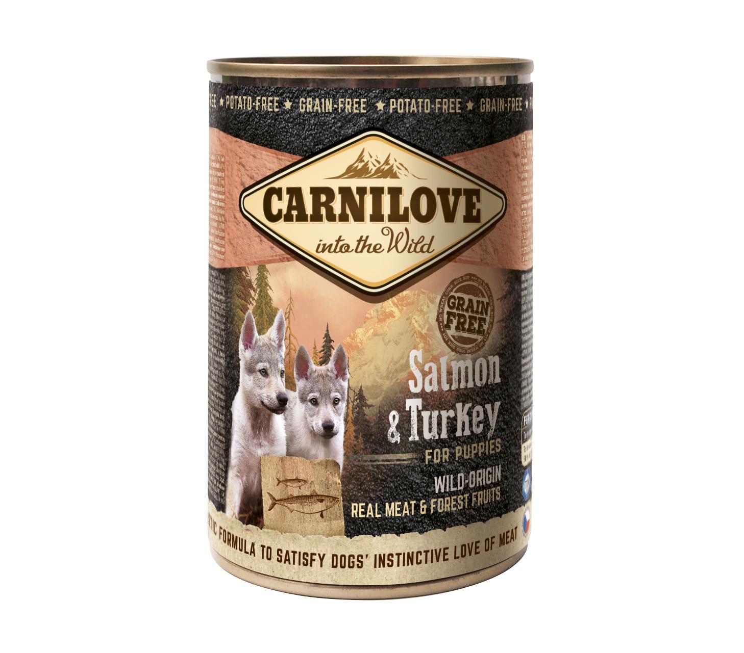 Carnilove Blikvoeding Salmon & Turkey Puppy